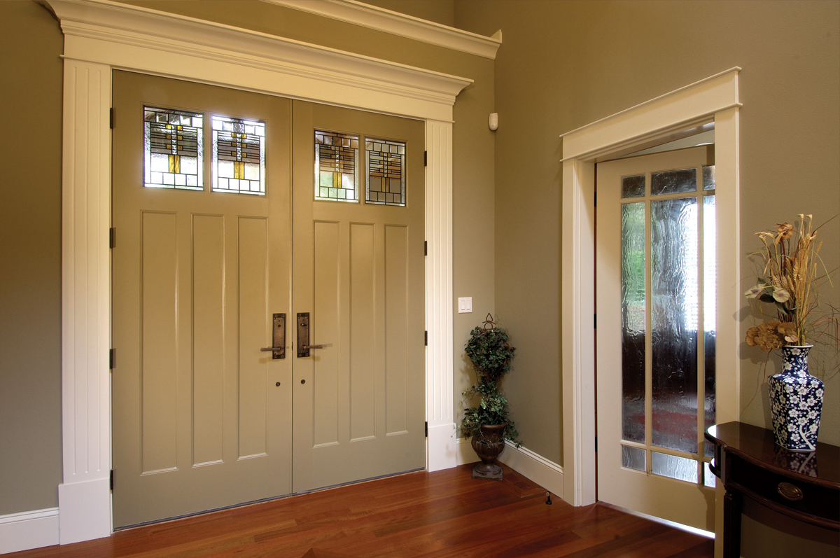 Exterior doors for House front double door design